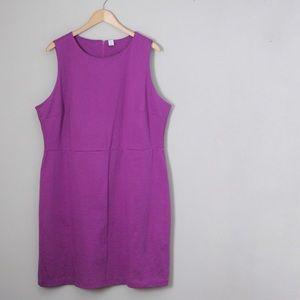 Fuchsia Ponte Knit Sheath Dress